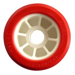 Galet 100 bi-matière rouge