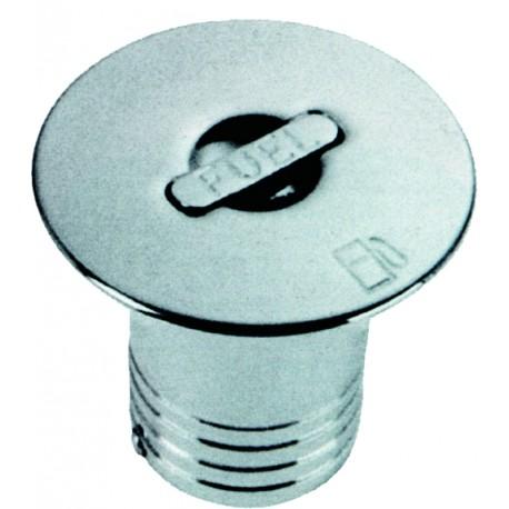 Nable de remplissage en laiton chromé raccord droit Ø50mm