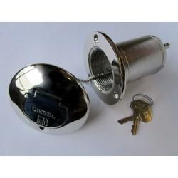Nable de remplissage en laiton chromé à clé Ø50mm Diesel