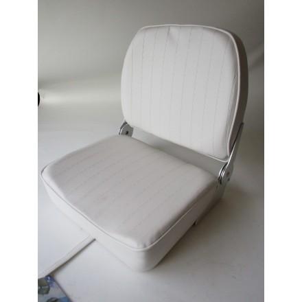 siège bateau rabattable blanc